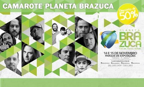 Muito Pop e Rock! 50% de desconto em 4 Passaportes para Camarote do Festival Planeta Brazuca, dias 14 e 15/11 no Parque de Exposições. De R$ 1.280,00 por R$ 640,00.