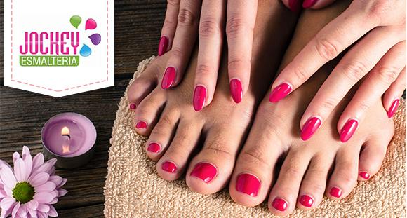 Manicure + Pedicure na Jockey Esmalteria
