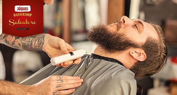 Pacote Homem Salvatore: Corte, Lavagem, Hidratação, Barba Terapia, Sobrancelha