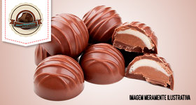 100 trufas tradicionais (02 sabores por cento) Planet Brigadeiros