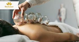 1 Sessão de Ventosaterapia com Massagem Relaxante com Bambuterapia