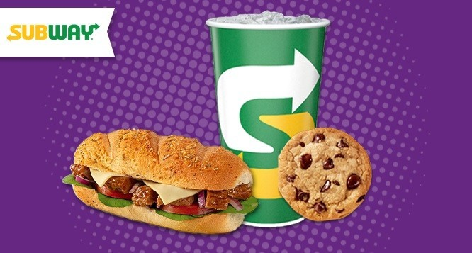 Combo Pop Sub (10cm) + Cookie + Refrigerante (300ml) no Subway Frei Serafim