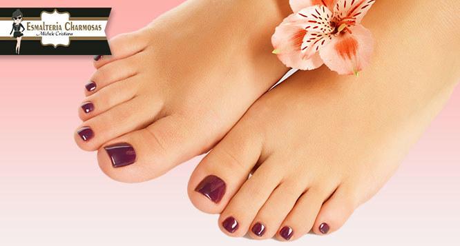 Manicure + Pedicure Completo (hidratação dos pés e lixamento com motorzinho)