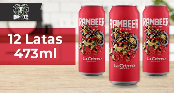 Caixa com 12 Cervejas La Creme em Lata 473ml na Rambeer Cervejaria