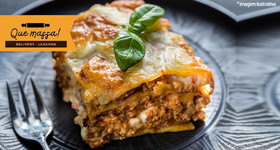 Lasanha nos sabores Bolonhesa, Frango, Palmito, Toscana com bacon ou Brócolis