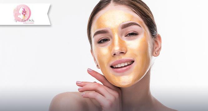 Limpeza de Pele com Extração de cravos + Peeling de Diamante + Máscara de Ouro