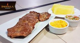500g Carne de Sol Alcatra + Macaxeira + Vinagrete + Farofa no Parrilla