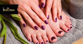 Manicure + Pedicure + Esfoliação dos pés no Studio Thamy
