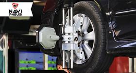 1 Alinhamento 3D + 4 Balanceamentos para  Carro Passeio na Navi Pneus