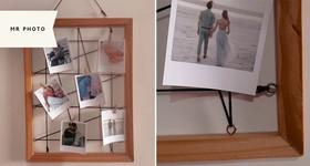 1 quadro varal (30x40cm) + 6 fotos Polaroid + cartão + frete grátis na Mr Photo