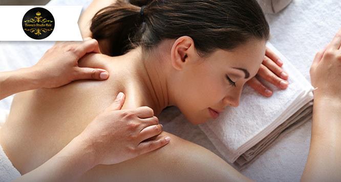1 sessão de Massagem Relaxante no Donna's Studio Hair
