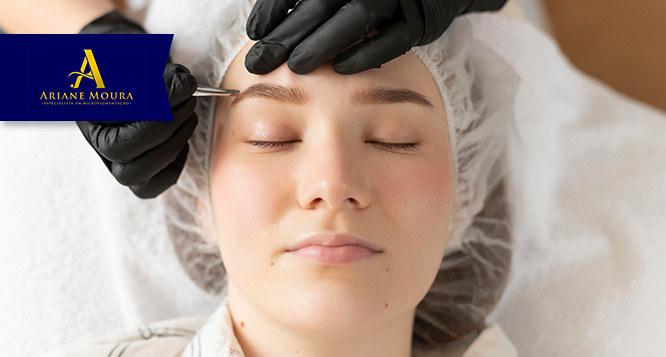 Design de sobrancelhas no Studio Ariane Moura Micropigmentação