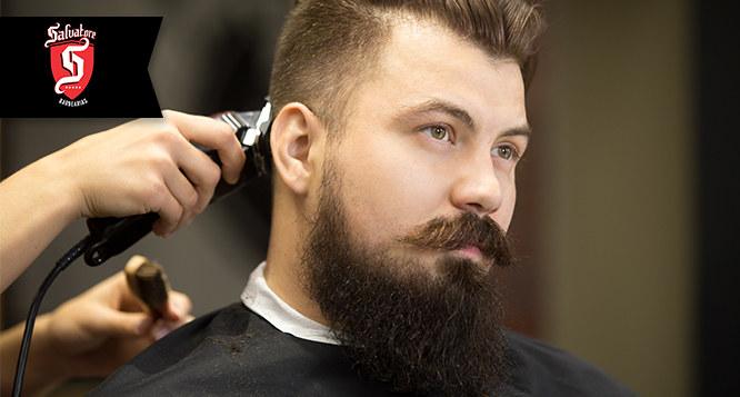 Corte de Cabelo + Barba no Barbershop Salvatore Jockey