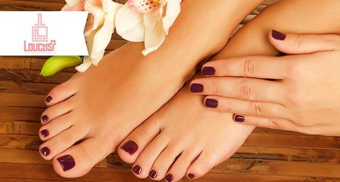 Manicure + Pedicure com Esfoliação no Loucas?