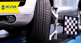 1 Alinhamento + 4 Balanceamentos para carros hatch e sedan até aro 18