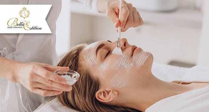 Pacote Facial com Peeling de Diamante, extração, Firm Placcid e Vitamina C